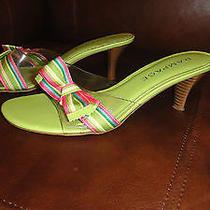 Women's Sandles Bright Green Multi-Colored Photo