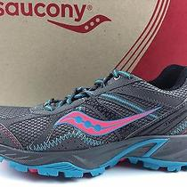 Women's Saucony Grid Excursion Tr 7 Trail Running Shoes Size 7 Gray Blue Pink Photo
