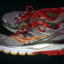 Women's Saucony Guide 6 Progrid Red/silver/white Athletic Shoes Size 6. Euc Photo