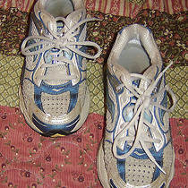 Women's Saucony Progrid Omni 7 Silver Blue White Running Shoes Size 8  Photo