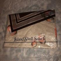 Womens  Scarf  Avon Island Shell  Beige an and Peach Shades Photo