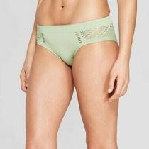 Women's Seamless Bikini With Mesh Panty - Auden - Kiwi Green - Size Med Photo