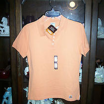 Women's Sharp Orange Carhartt Polo Sport Shirt Size Small Nwt Photo