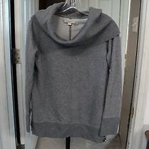 Women's Shawl Neck Sweatshirt Ann Taylor Loft Gray Heather Medium (B46) Photo