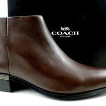 Women's Shoes Coach New York Montana Ankle Booties Leather Mink Brown Size 7.5 Photo