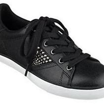Women's Shoes Guess Marline Fashion Sneakers Rhinestones Leather Black Size 5 M Photo