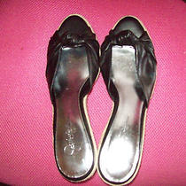 Women's Shoes Jessica Simpson Wedged Heel Black Size 9 1/2 B Photo
