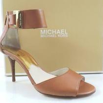 Women's Shoes Michael Kors Guiliana Open Toe Ankle Strap Sandal Luggage Size 7 Photo
