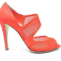 Women's Shoes Sandals Eu 36.5 Uk 4 Us 6 Christian Dior Orange Canvas Photo