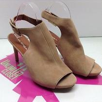 Women's Shoes via Spiga Nino Ankle Strap Sandal Beige Suede Size 8.5 M Photo