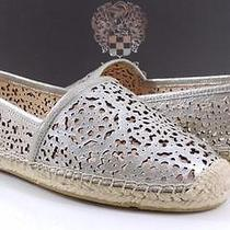 Women's Shoes Vince Camuto Deagon Laser-Cut Espadrille Flats Dusty Camel Size 8 Photo