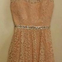 Women's Short Homecoming/prom/formal Dress Peach/blush Size 13 Photo