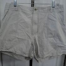 Women's Shorts Size 16 Columbia 100% Cotton Tan Khaki (B44) Photo
