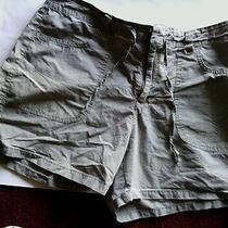 Women's Shorts Size10 Light Green Gloria Vanderbilt Drawstring Pockets Classic Photo