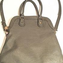 Women's Shoulder Tote Bag Woven Faux Leather Green Gray by Deux Lux Purse Hobo Photo