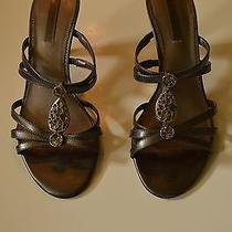 Women's Silver Bandolino Gently Worn Heels Size 7.5 Photo