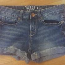 Women's Size 0 Aeropostale Denim Cuffed Shorts Photo