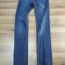 Women's Size 1/2 Reg Aeropostale Skinny Blue Jeans W 26 L 30 Photo