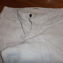 Women's Size 10 Express White Corduroy Pants  Look Photo