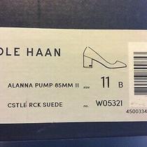 Women's Size 11 Cole Haan Alanna Pump Castle Rock (Gray) Suede Photo