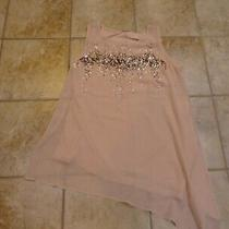 Women's Size 14/16 Blush Pink Blouse With Gold Sequins by Lane Bryant Photo