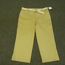 Women's Size 16 Tan Capri / Cropped Pants by Classic Elements Nwt Photo