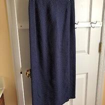 Women's Size 2 Gap Brand Polka Dot Wrap Style Long Skirt. Photo