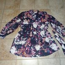 Women's Size 20 Blue Floral Blouse by Lane Bryant Beautiful Photo