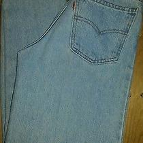 Women's Size 27x32 Light Wash Levi Classic Sraight Leg Denim Jeans Photo
