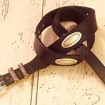 Women's Size 30 Black Leather Belt by Brighton Jewelry Distressed Silver on Belt Photo