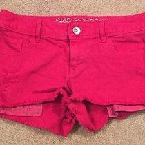 Women's Size 4 Express Denim Jean Casual Shorts Solid Pink New Nwot Photo