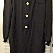 Womens Size 48 Navy Blue Valentino Miss v Designer Dress Photo