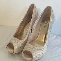 Women's Size 6 1/2 Jennifer Lopez  Blingy Blush Platform Peep Toes Pumps  Photo