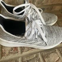 Womens Size 6.5 White Adidas Cloudfoam Athletic Sneakers Euc Photo