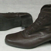 Women's Size 7 Brown Leather Classic Elements Ankle Fashion Boots Photo