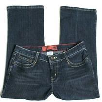Women's Size 7 Mossimo Crop Capri Jeans Stretch Blue Dark Wash Inseam 23 Photo