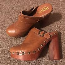 Women's Size 8 Brown Leather Platform Clogs by Jeffery Campbell - Woodies Photo