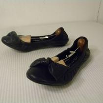 Women's Size 8 Jeffrey Campbell Black Leather Ballet Flats Photo