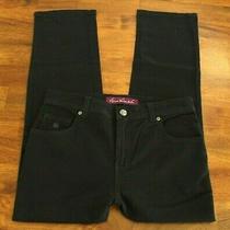Women's Size 8 P New Gloria Vanderbilt Tapered Jeans Stretch Black Inseam 25 Photo
