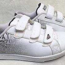 Women's Size 8 White  Roxy Sneaker Shoes Velcro Closures  Photo