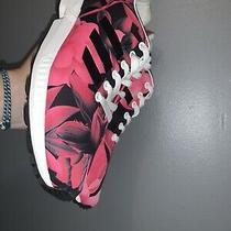 Women's Size 8adidas Torsion Zx Flux Pink Flower Sneakers Photo