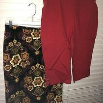 Womens Size L Croft and Barrow Capri Pants and Travel Elements Skirt Lot of Two Photo
