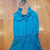 Women's Size M Express Romper Teal Photo