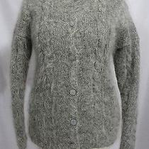 Women's Size M - Gray Alpaca & Wool Blend Natural Fiber Cardigan Sweater Photo