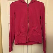 Women's Size Medium Express Zip Up Sweat Shirt Pink Photo