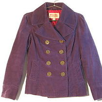 Women's Size S Small Mossimo Supply Co Purple Pea Coat Jacket  Photo