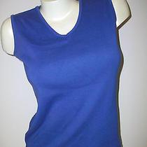 Women's Size Small Prime Elements 100% Cotton Knit Sleeveless Top Photo