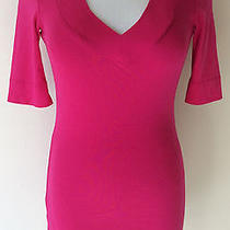 Women's Size Small S Express Sexy Basic v Solid Pink Pima Cotton/modal Top       Photo