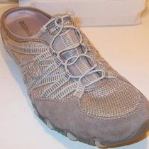Women's Skechers Beige Suede Slip on Fashion Sneakers Shoes Size 10 Medium Photo