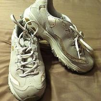 Women's Skechers Running Shoes 11438 d'lites Natural/gold Floral 7.5 Photo